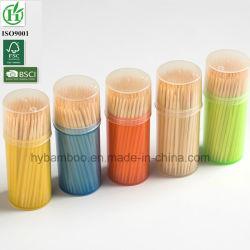Cure-dents de bambou jetables haute qualité