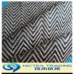Tweed Sellerie tissu sergé chevron pour la voiture, bleu blanc tissu de voiture de meubles de couleur