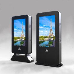 Kundenspezifisches im Freienkiosk-Totem, Fußboden, der androide drahtlose WiFi LCD Kiosk-Bildschirmanzeige steht
