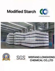 Longue durée de temps d'amidon cationique / Amidon modifié utilisés dans l'industrie des pâtes et papiers CAS 56780-58-6