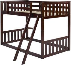 Los niños literas, camas de madera/Full Literas literas de madera de pino macizo