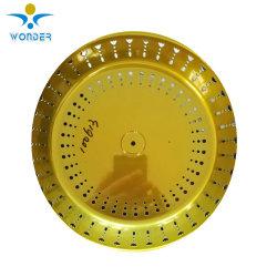 Rivestimento in polvere in oro lucido cromato metallico elettrostatico per acciaio