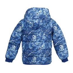As crianças de moda do Outono Inverno Outwear mais quentes Casacos Impressão longa Azul Bebê Outwear Lazer da camada almofadada Hoody