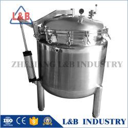Neumática en acero inoxidable de 1.000 litros abrir la tapa del depósito de cocción de la presión de la Calefacción de vapor