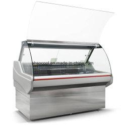 Servicio de Vidrio puerta corredera Vitrina refrigerada contador