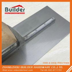 La mano de acero al carbono Bricklaying Mango de madera espátula espátula plana