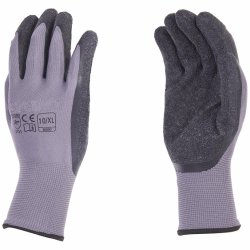 Breathable Arbeits-Handschuh-Polyester-Latex-überzogene graue Nylonhandschuhe 100%