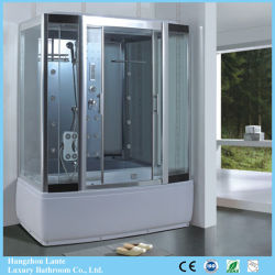 Schiebendes Glas-Tür-Vierecks-Dampf-Dusche-Zelle (LTS-8917A)