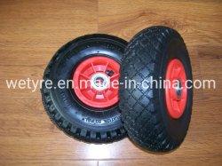 Grand carré Bande de roulement en plastique de haute qualité à bas prix Rim gonflable Roue en caoutchouc pneumatique pour l'outil Panier (3.00-4)