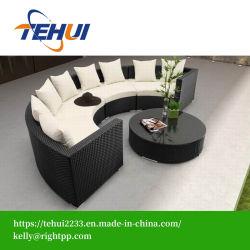 Jardim de vime sofá com mesa de café Home Hotel Patio Mobiliário de exterior