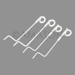 白いばねの鋼鉄ピグテールのポストの電気塀のピグテールのポストのピグテール相殺ねじ