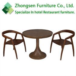 식당 호텔 대중음식점 다방 다방을%s 놓인 현대 디자인 단단한 나무 테이블 의자 가구를 예약했다