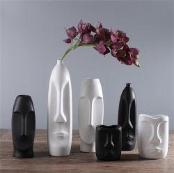 La famiglia di modello del commercio all'ingrosso della decorazione della testa della stanza della decorazione del salone di studio del portico della casa dei mestieri di ceramica creativi nordici della decorazione orna il vaso di fiore di ceramica
