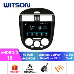 10 Indash Android Octa-Core Witson aluguer de DVD para 2011-2015 TIIDA NISSAN Versão Air-Conditioner Manual