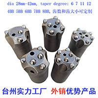 Weikai Marke 30 32 34 6 38 40 42 mm sich verjüngender Tasten-Bohrmeißel-Felsen-Bohrmeißel für den Tunnelbau/Steinbruch/Untertagebetrieb