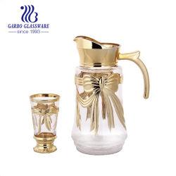 Het Drinken van het Glas van de luxe de Gouden Vastgestelde 7PCS Uitrusting van het Diner (gb12002hdj-D)