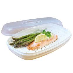 Mantenha o plástico fresco peixe vaporizador para cozinha microondas
