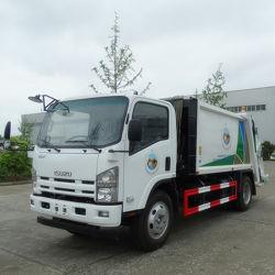 Vuilnisauto van de Lader van Isuzu van het Vervoer van het huisvuil de Compacte Achter