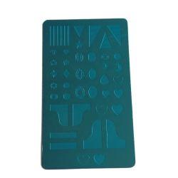 Diseño personalizado de acero inoxidable grabada de doble cara de la placa de estampación de uñas