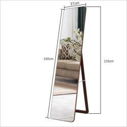 مرآة مرآة أرضية كاملة الطول مع الوقوف في المنزل حجرة ملابس التخزين مرآة ملابس مثبتة على الحائط