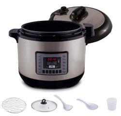 Nutri-pot 13-kwart gallon Digitale Hogedrukpan met het Systeem van de Veiligheid van het zeker-Slot; Afwasmachine-veilige Non-Stick BinnenPot; Het Deksel van het glas voor het Langzame Koken