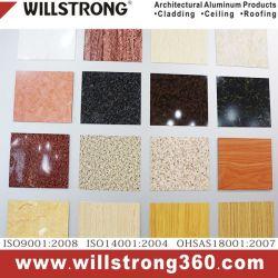 サンドイッチパネル3mm木パネル・ボード/外部アルミニウム合成のパネル式カーテンウォールのクラッディングまたは内部の装飾的な材料