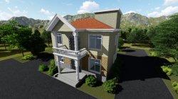 Casa modular com novo design expansível destacável prefabricadas Flatpack, Prefab House Light Estrutura Estrutura de aço Villa 2 andares com 4 Quartos / 2