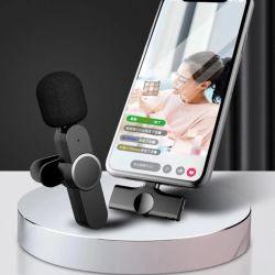 휴대용 오디오 비디오 녹화 iPhone Android Live용 미니 마이크 방송 게임 전화 Youtuber Microfonoe 무선 라발리에 마이크