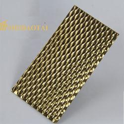 Мода рельефным стальной лист 3D настенные панели 201 304 Цвет нержавеющая сталь лист