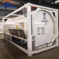 Jsxt 20 ft T75 輸送用液体極低温圧力ポータブル保管 ISO LNG / LAR / LIN / LIN / N2O / Lco2 / LC2h4 / LC2h6 ステンレススチールタンクコンテナ、 Cryopump 付き