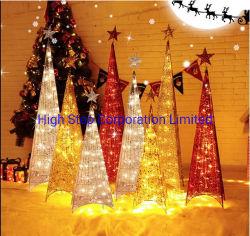 Kerstboom met LEIDENE licht-Ijzer de Boom van de Kunst
