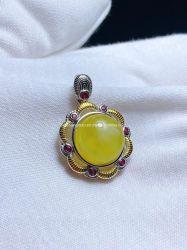 أصفر مدلّاة [ملّيت] بالجملة/[هونستون] مدلّاة حجارة طبيعيّة
