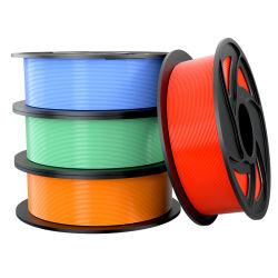 La fábrica al por mayor de PLA de filamentos de Neat Impresión 3D de bobinado de filamento suciedad impresora 3D de filamentos de 1,75mm 1kg de filamento de impresora 3D