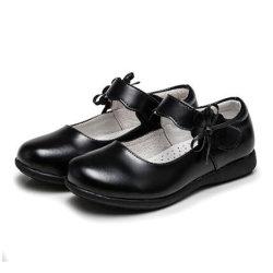 أحذية مدرسية جلدية للأطفال باللون الأسود للبيع بأسعار مغرية للفتيات مداسات قماش