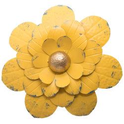 Décoration maison fleurs jaunes Art Design mur de métal