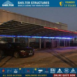 판매를 위한 PC 덮개 대피소 간이 차고를 가진 활 모양으로 한 지붕 & 편평한 지붕 알루미늄 프레임
