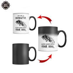 Sublimation-Leerzeichen-keramische magische Arbeitsweg-Kaffeetasse