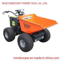 4WD Electric Mini Dumper relvado com pneu de grama