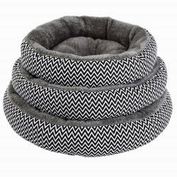 Basi molli calde di inverno nero di lusso rotondo dell'animale domestico della base del cane per il piccolo cane