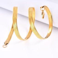 18K الذهب Plated Herringbone قطر سلك مختلفة قلادات موضة المعادن المجوهرات ملحقات الفولاذ المقاوم للصدأ