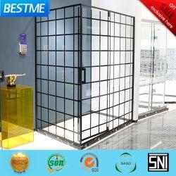 Couleur noir moderne salle de bains Meubles de salle de douche en verre Bl-B0125-C