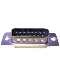 Tipo maschio terminale di contatto standard 15pin Dsub d'ottone materiale