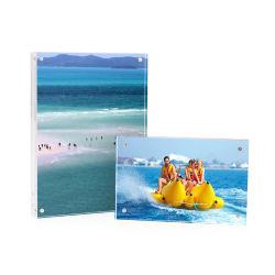 Acryl Kristall Foto Frame klar schwimmenden Rahmen für Dokument Zertifikat Bildmaterial
