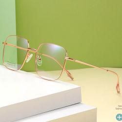 La memoria incornicia i blocchi per grafici di titanio ottici Eyewear di vetro ottico del quadrato delle donne degli uomini di vetro