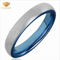 Mayorista fabricante nuevo anillo de acero de tungsteno de 4mm de ancho Lasha Azul Tungsteno anillo anillo de oro para los hombres y mujeres joyas Tst4193