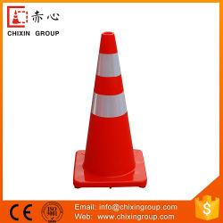 70cm 주황색 사려깊은 PVC 도로 교통 표지 안전 플라스틱 콘 (CC-A70)