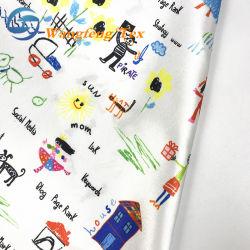 50*75 100 % poly satin tissu à doublure imprimée pour la tenue vestimentaire, de mariage