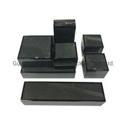 Fabrik Customized Luxus Carbon Fiber Glossy Finish Holz Schmuck Verpackung Boxen