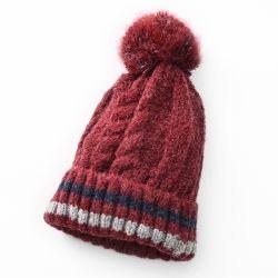 De Kabel van Pompom van het Bont van Faux van de Winter van Slouchy van vrouwen breit Hoed Beanie
