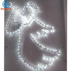 LED 2d الملاك الحبل عيد الميلاد الديكور ضوء نمذجة المصابيح